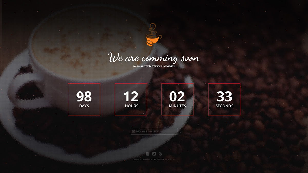 Psd Coming Soon Template On Behance