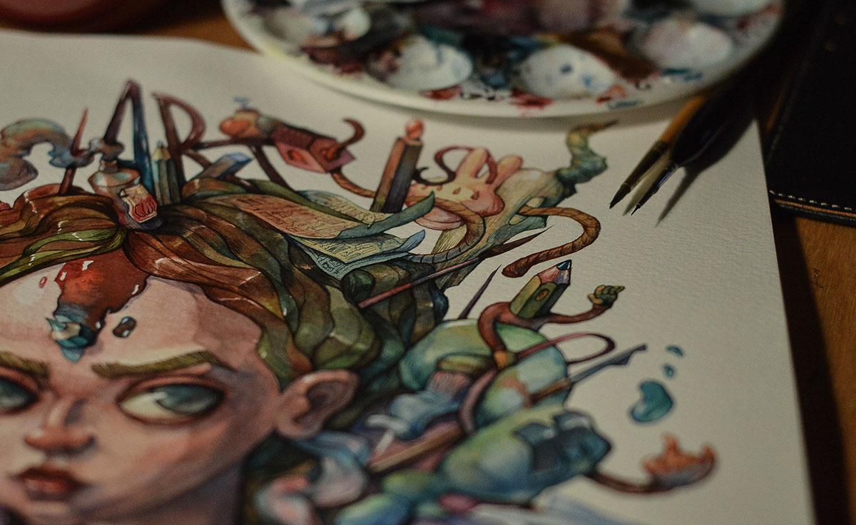 watercolor art toxic paint