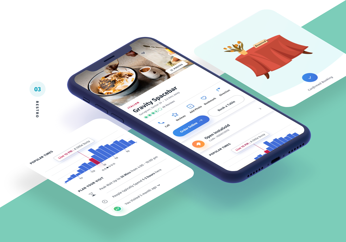 Tripto Travel – Hotel and Food Mobile app – UI / UX on