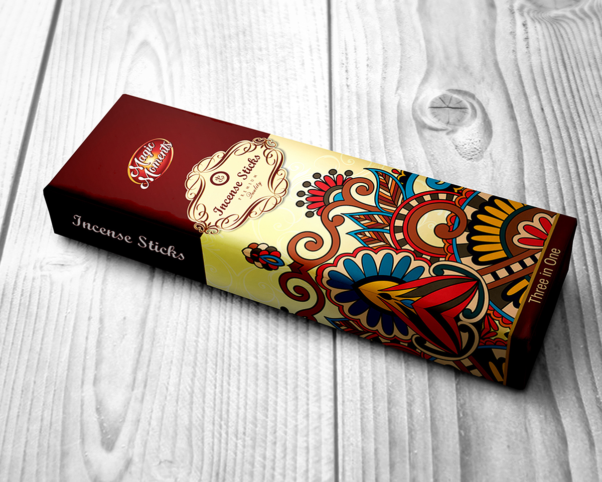 Magic Moments Incense Sticks Packaging Design On Behance