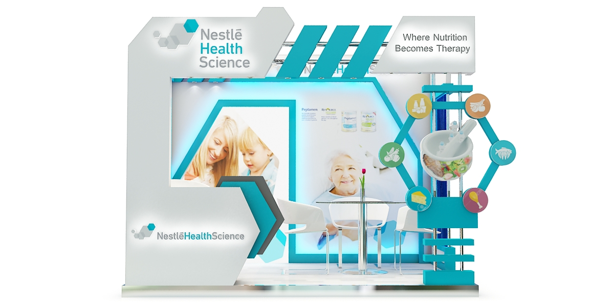 Nestle Exhibition Booth : Nestle health science booth on behance