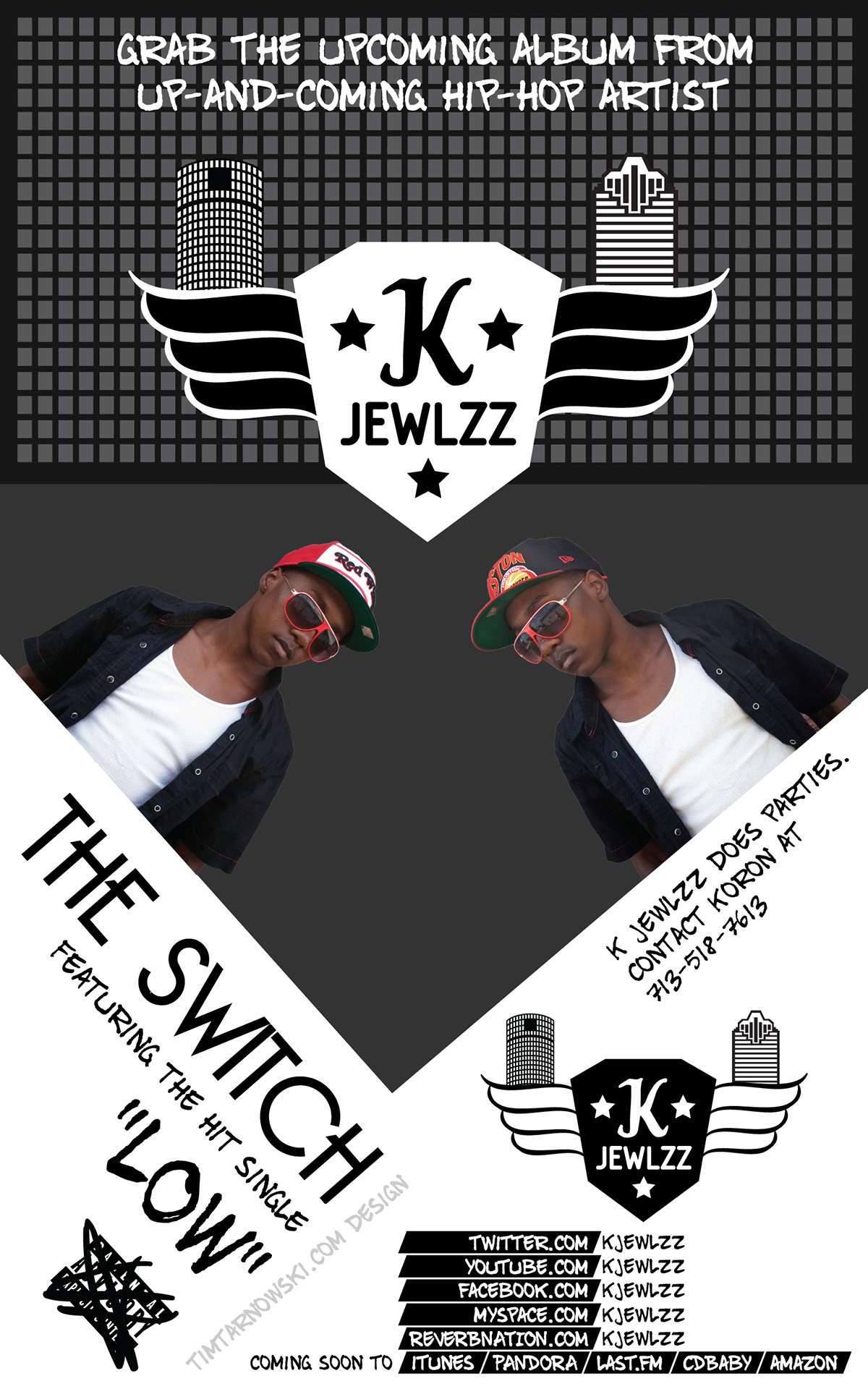 KJewlzz hip-hop hip hop logo poster Sunglasses hat