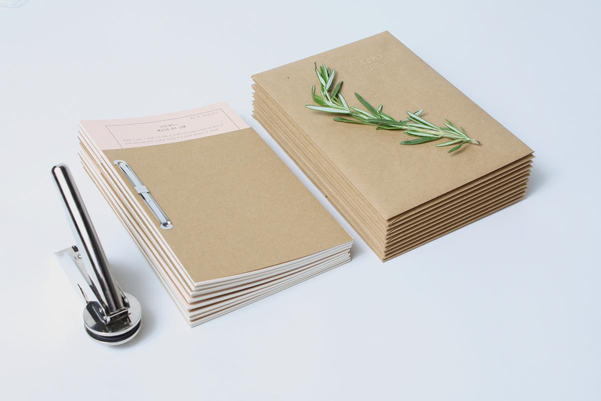 Food  Events dinner menu books publication binding format Passport identity logo cuisine embossed