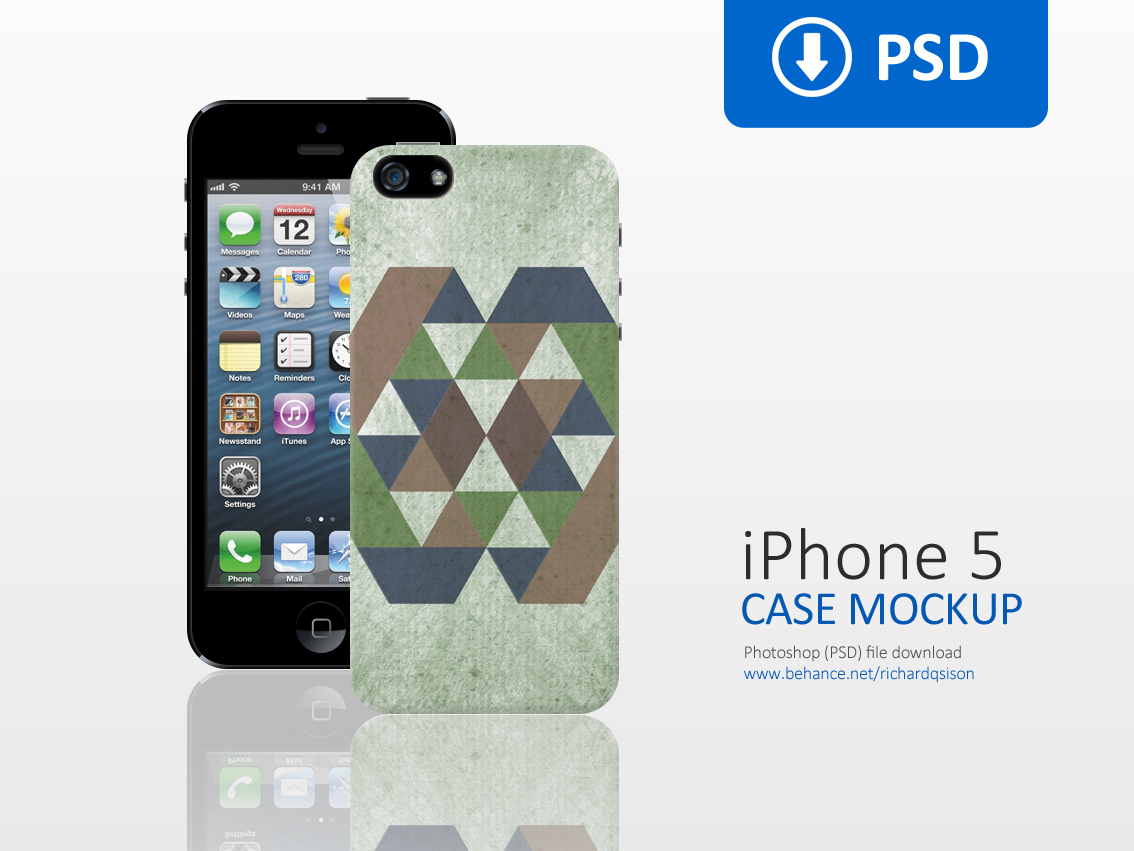 Clean iPhone 5 Case Mockup on Behance
