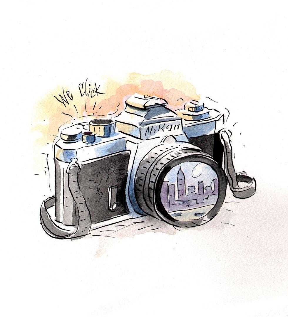 место для прикольный рисунок фотоаппарата статье приведены основные