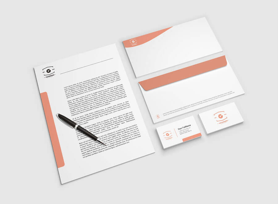 Free Letterhead Mockup PSD Is A Part Of The Stationery Design Mockup And  Includes Letterhead, Two Sides Envelope And Two Sides Business Card  Templates To ...