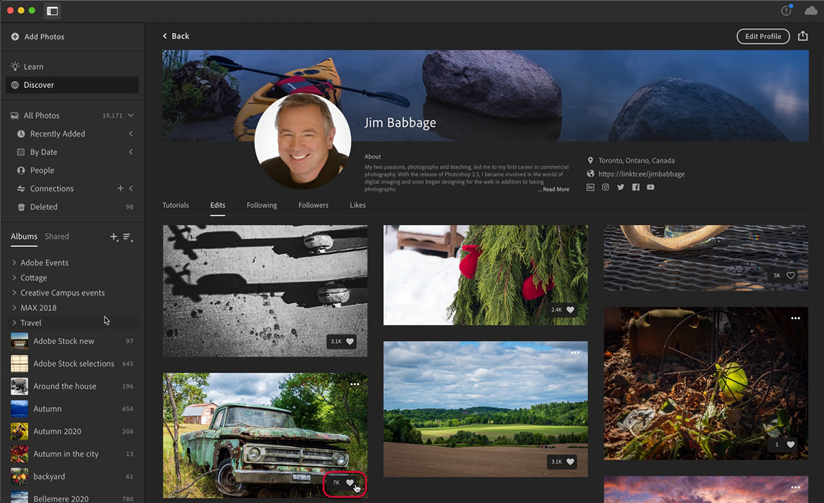 discover presets Tutorials enablement learn lightroom photo editing