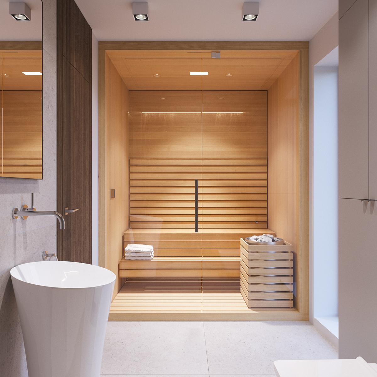 modern villa interior on behance. Black Bedroom Furniture Sets. Home Design Ideas