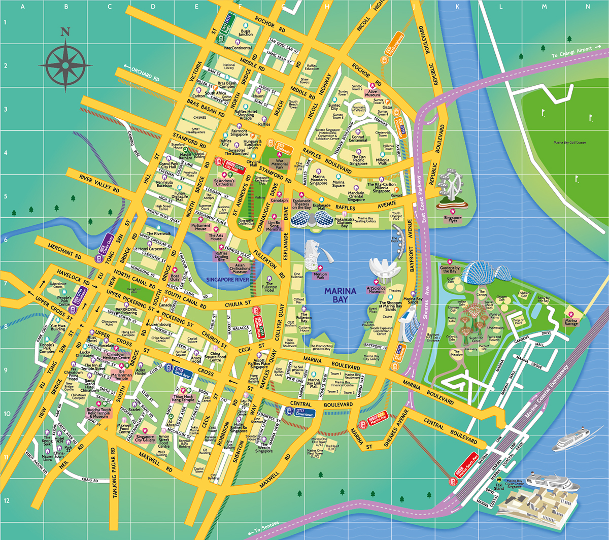Tourist Map of Marina Bay Singapore on Behance – Tourist Map Of Singapore City
