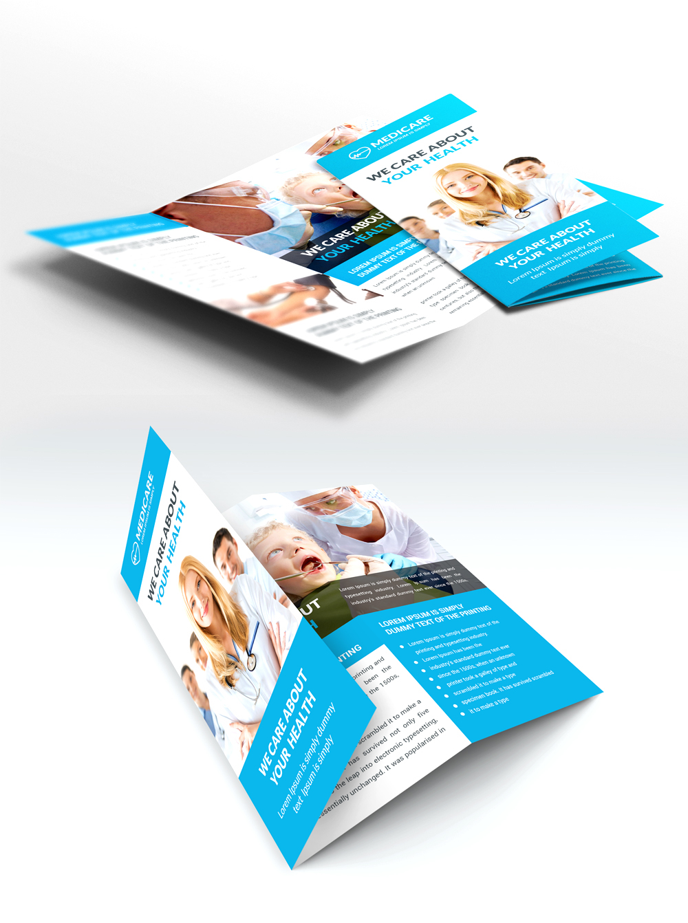 Medical and hospital trifold brochure free psd on behance the psd includes all customizable layers so you can change information background logo and so on this template download contains 300 dpi print ready pronofoot35fo Images