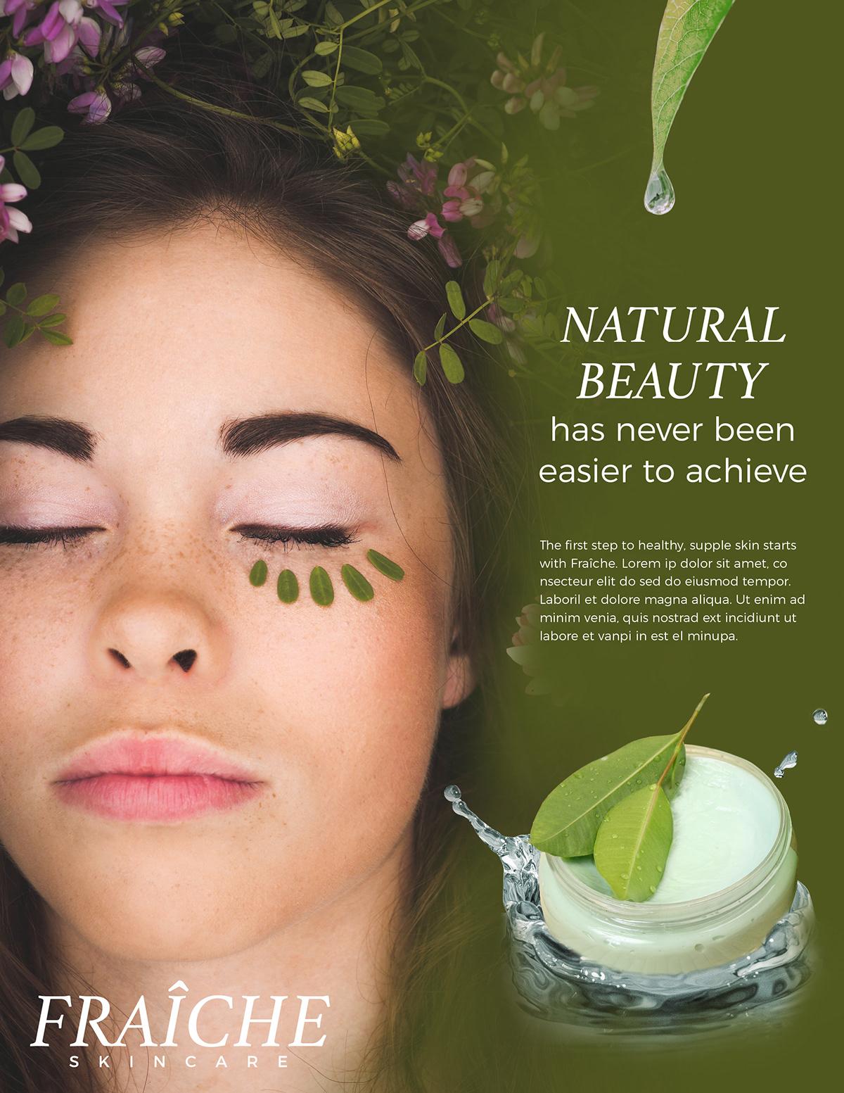 Magazine Ad Composition   Skincare on Behance