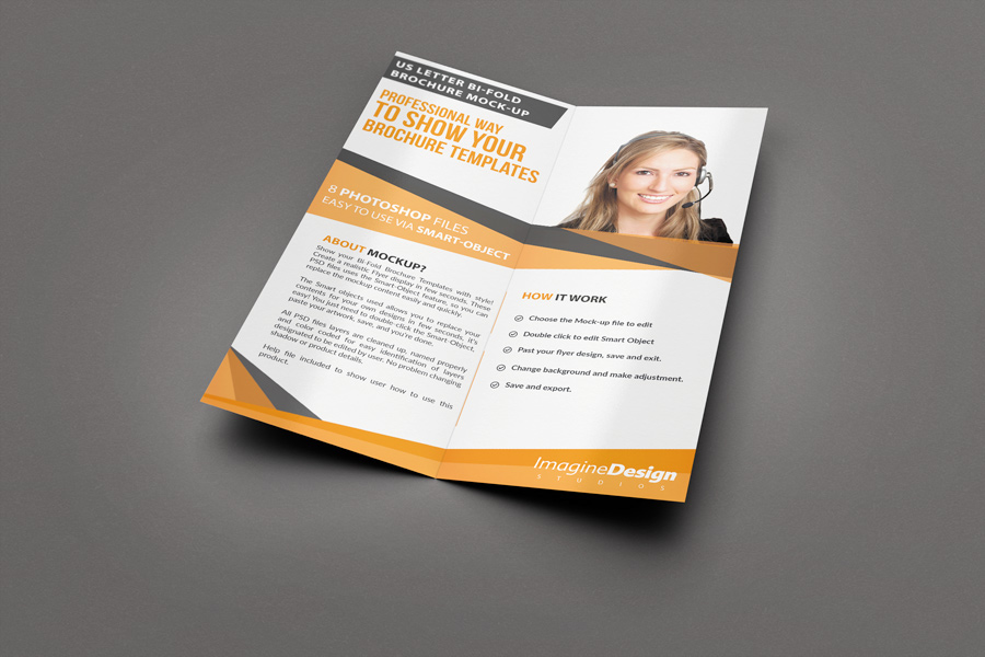 how to make a half fold brochure in word