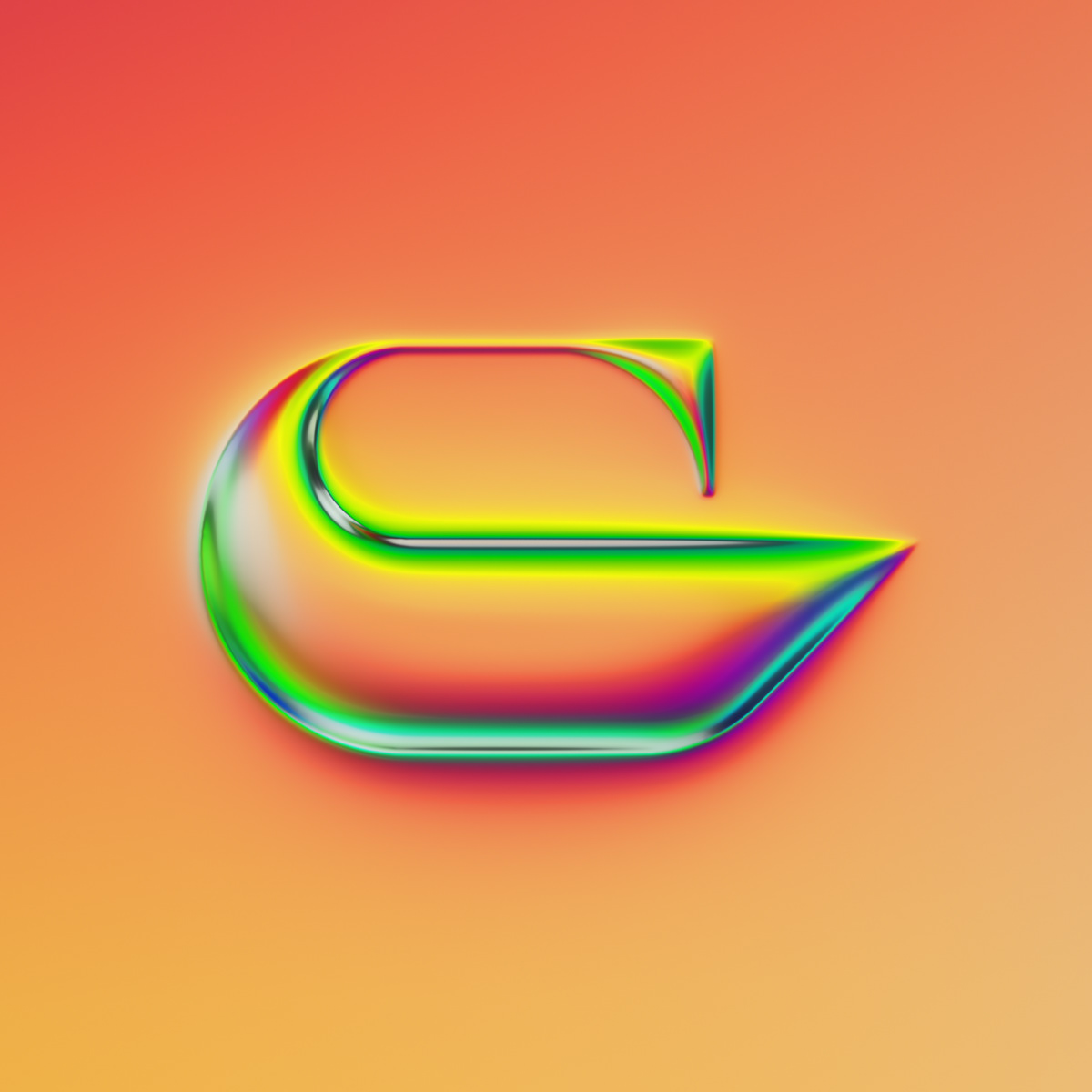 36 days 36daysoftype lettering typography   chrome glass metallic reflection refraction type design