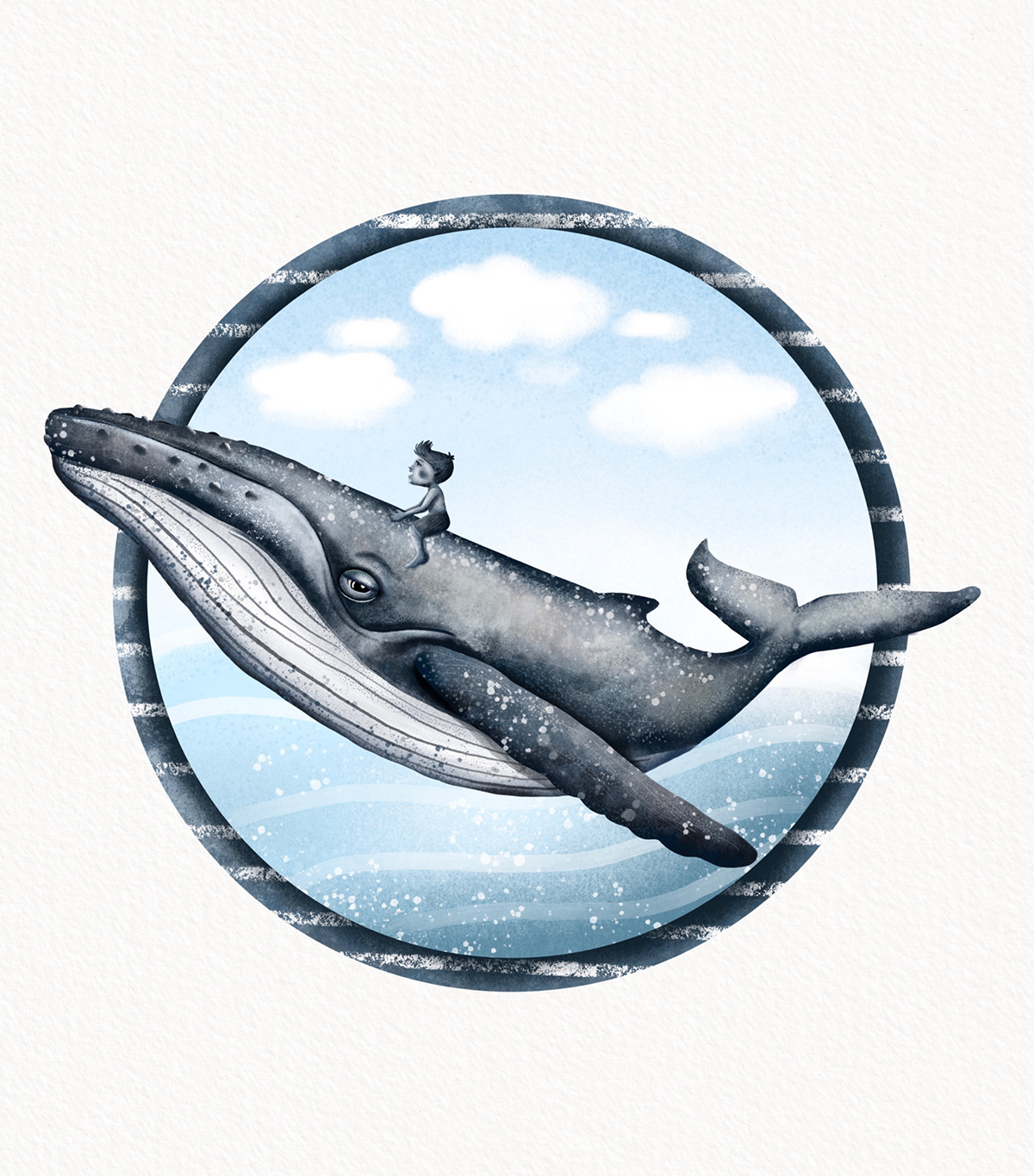 animals bluewhale children fish illustrations Nature Ocean sea water Whale