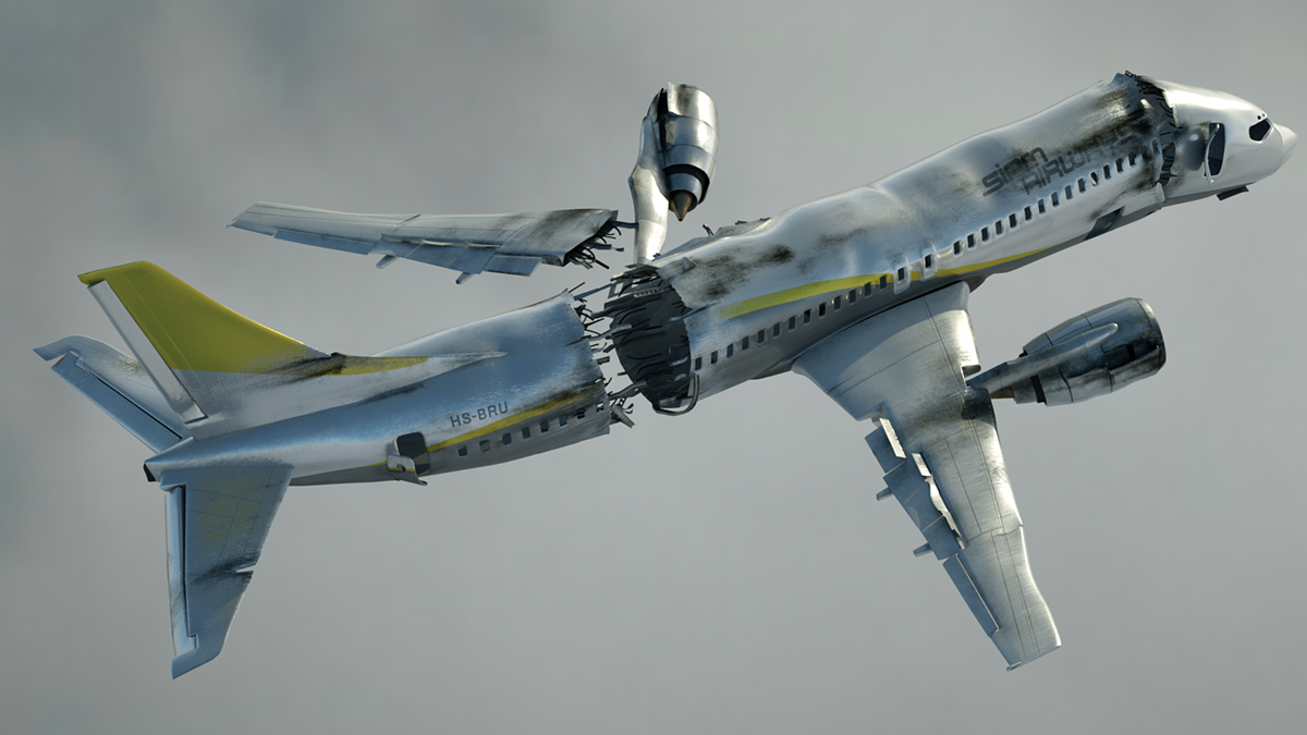 Into The Current after effects compositing cinema 4d 3D octane Render animation  plane explosion