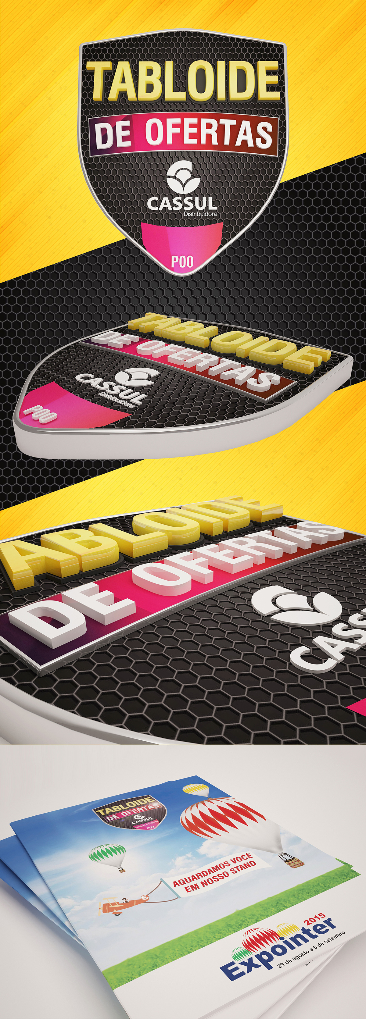 logo brasão Cassul tabloide 3D rendering