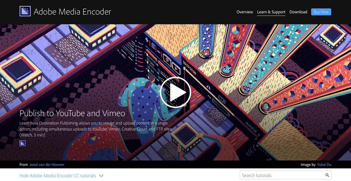 Media Encoder Adobe CC block game purple