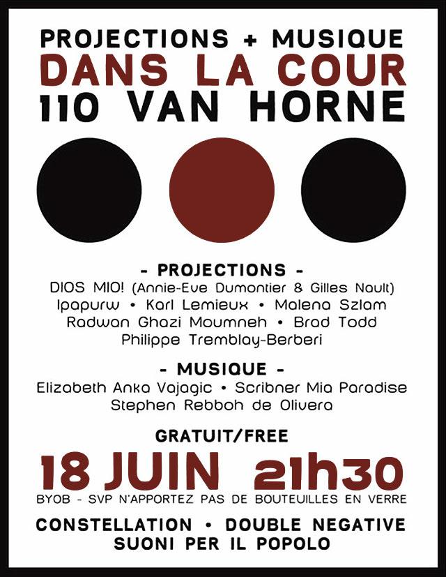 projection public art black metal DIOS MIO!