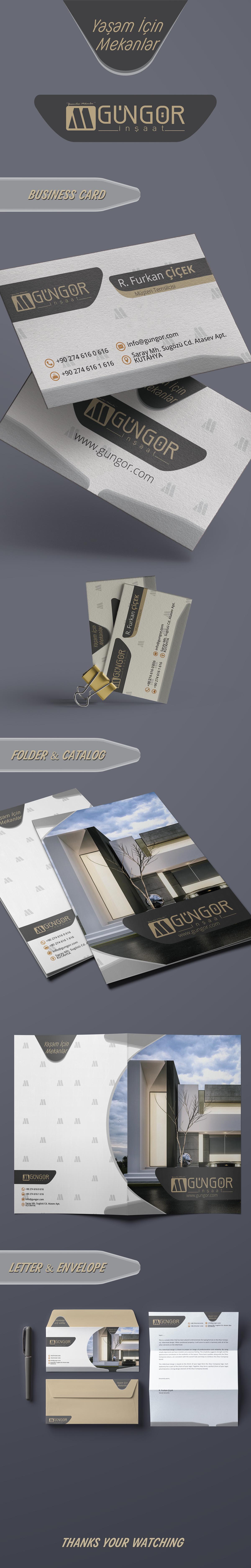 Gungor Construction Brand Identity Free Mockup on Pantone Canvas
