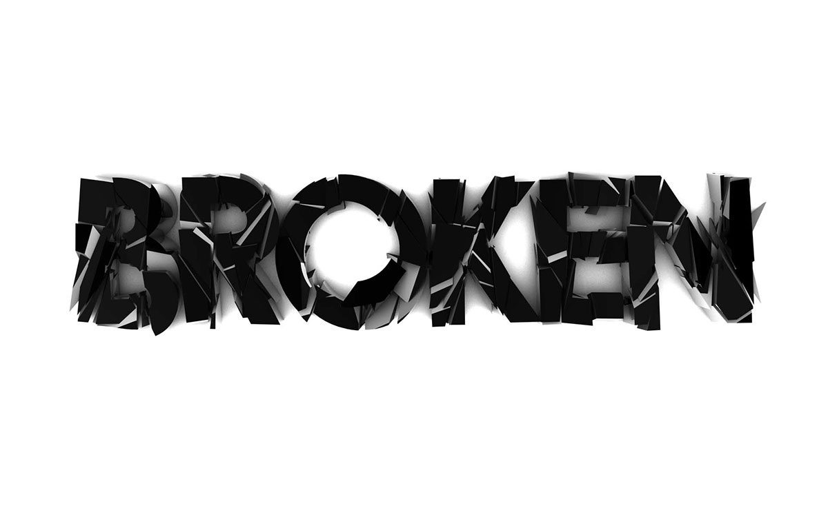 Broken type on behance baditri Gallery