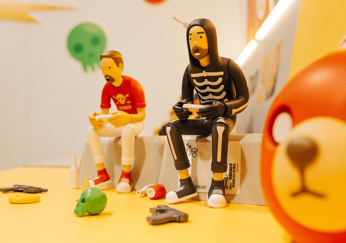 Adobe Portfolio toy arttoy designertoy RESINGTOY Character