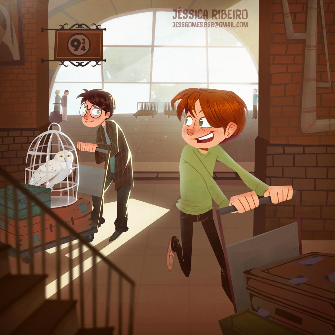Platform 9 3 4 Harry Potter Fanart On Behance