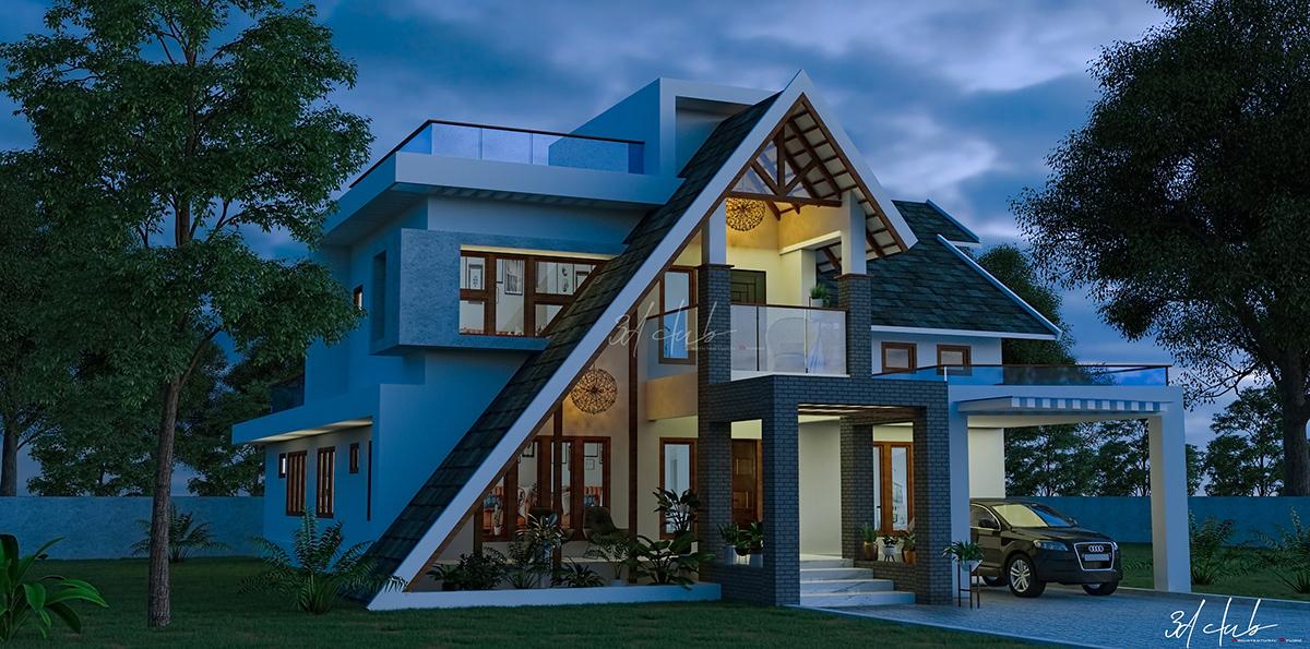 3D,3d artist,architecture,exterior 3d,interior design ,KERALA HOUSE,kerala house design,Vasthu