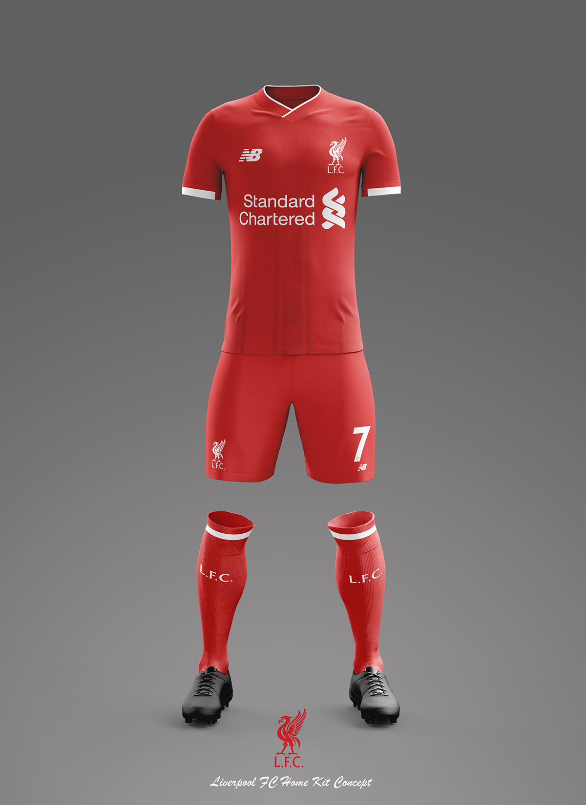 brand new e91b3 47875 Liverpool Home, Away and Third Kit Concepts 2018/2019 on Behance