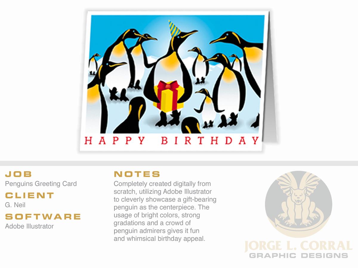Penguins Greeting Card On Behance