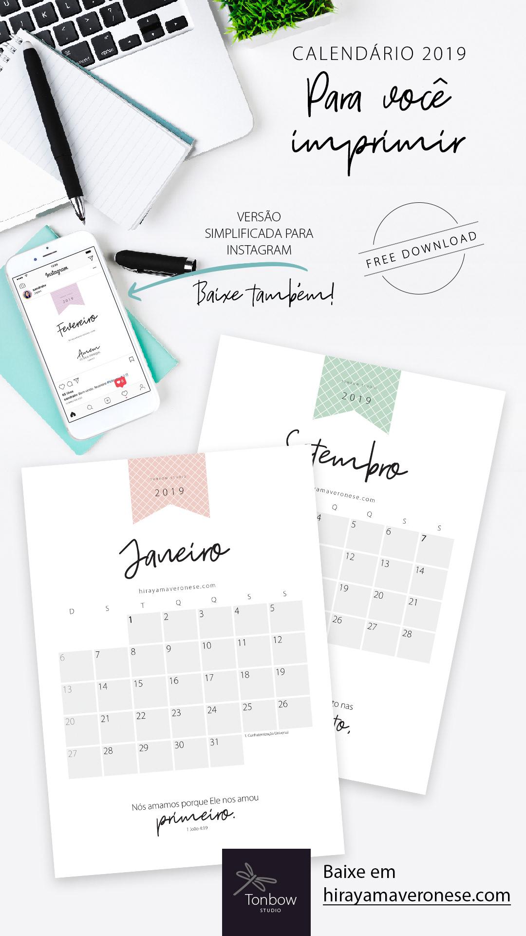 Calendario Free.Calendario 2019 Free Download On Behance