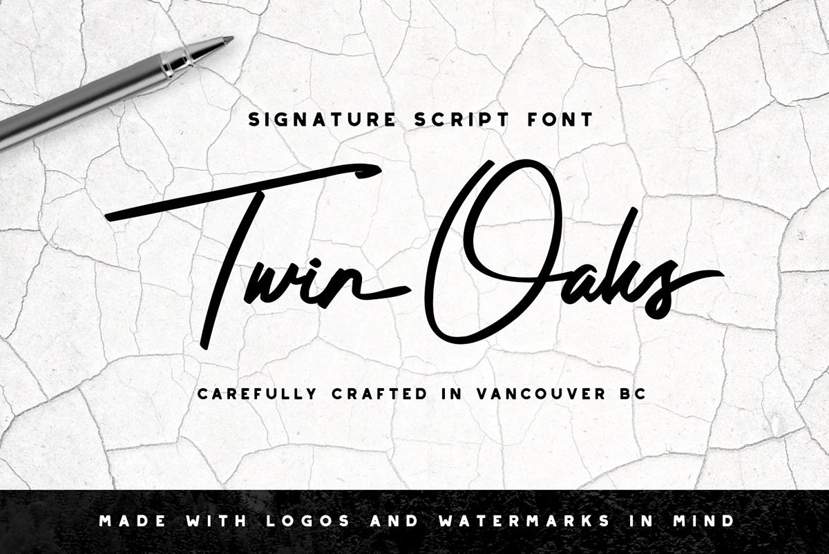 Twin Oaks Signature Script On Behance