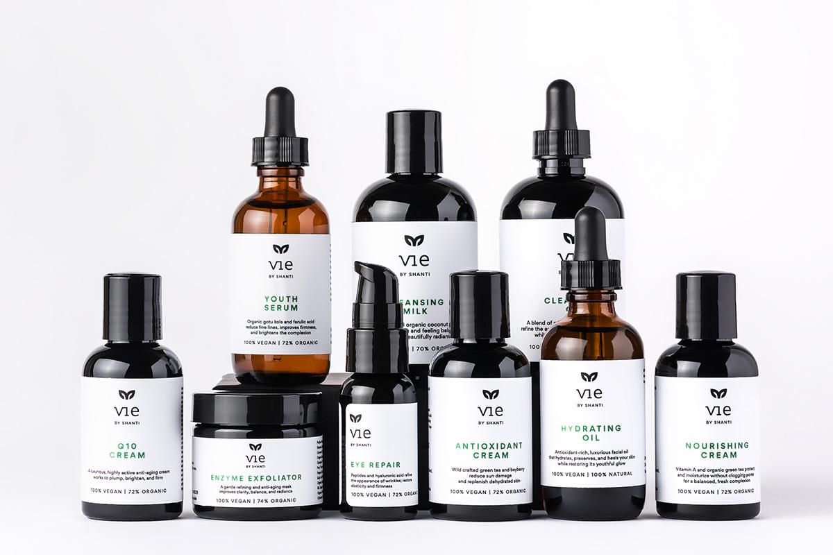 skincare natural eco-friendly vegan minimal VIE by Shanti peace