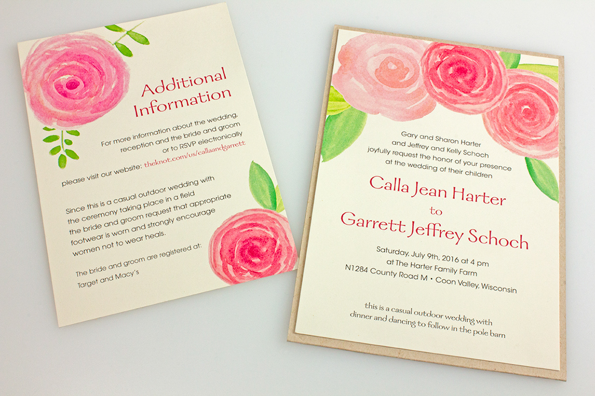 Casual Outdoor Wedding Invitations on Behance
