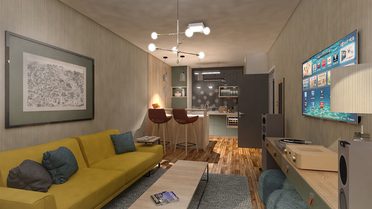 Apartment in buda on wacom gallery for 55m2 apartment design