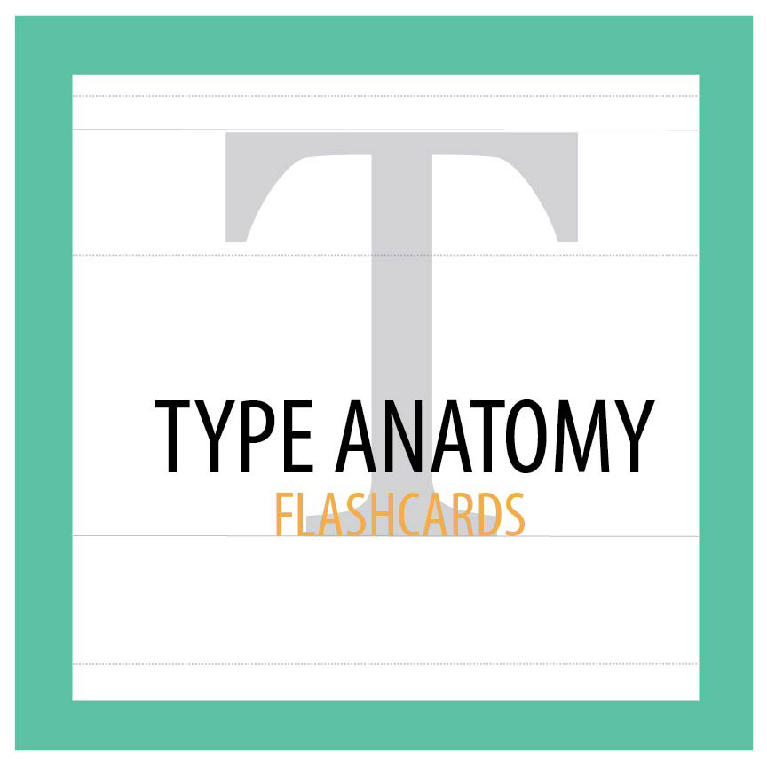 Type Anatomy Flash Cards on Behance