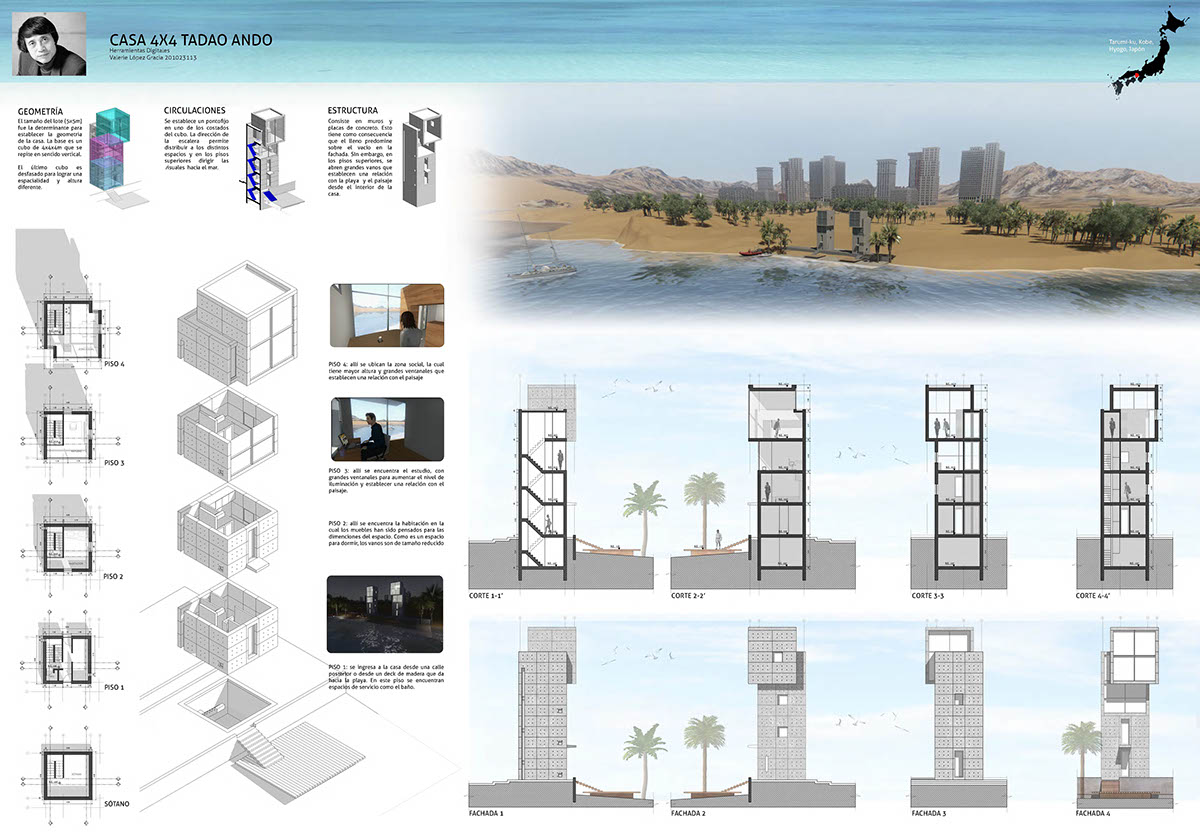 Tiny Home Design Casa 4x4 By Tadao Ando On Behance