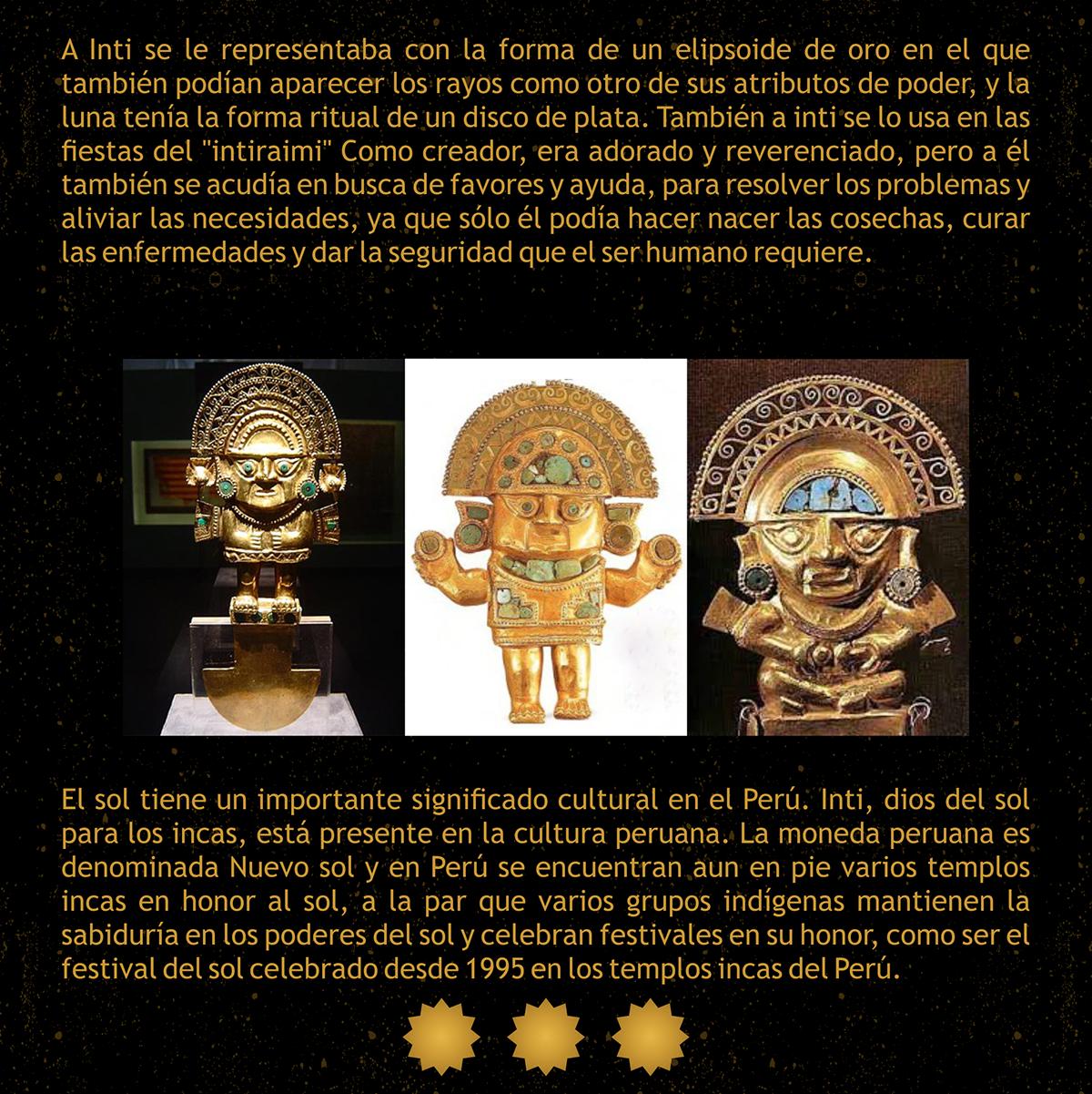 inti  u0026quot dios del sol inca u0026quot  on behance