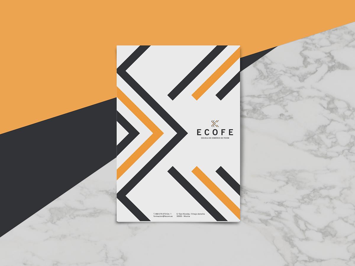 brand branding  Logotype logo design graphic design  ECOFE commerce escuela murcia