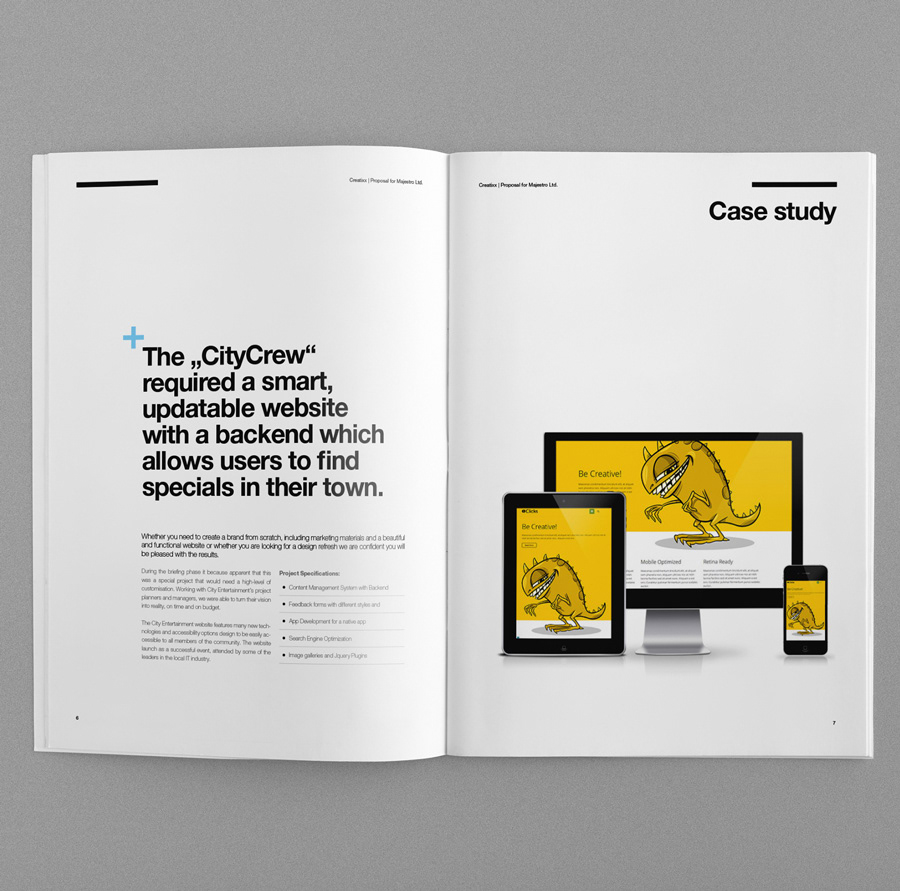 business clean contract corporate creative invoice Layout Project Proposal Quoatation Suisse swiss template Website brochure