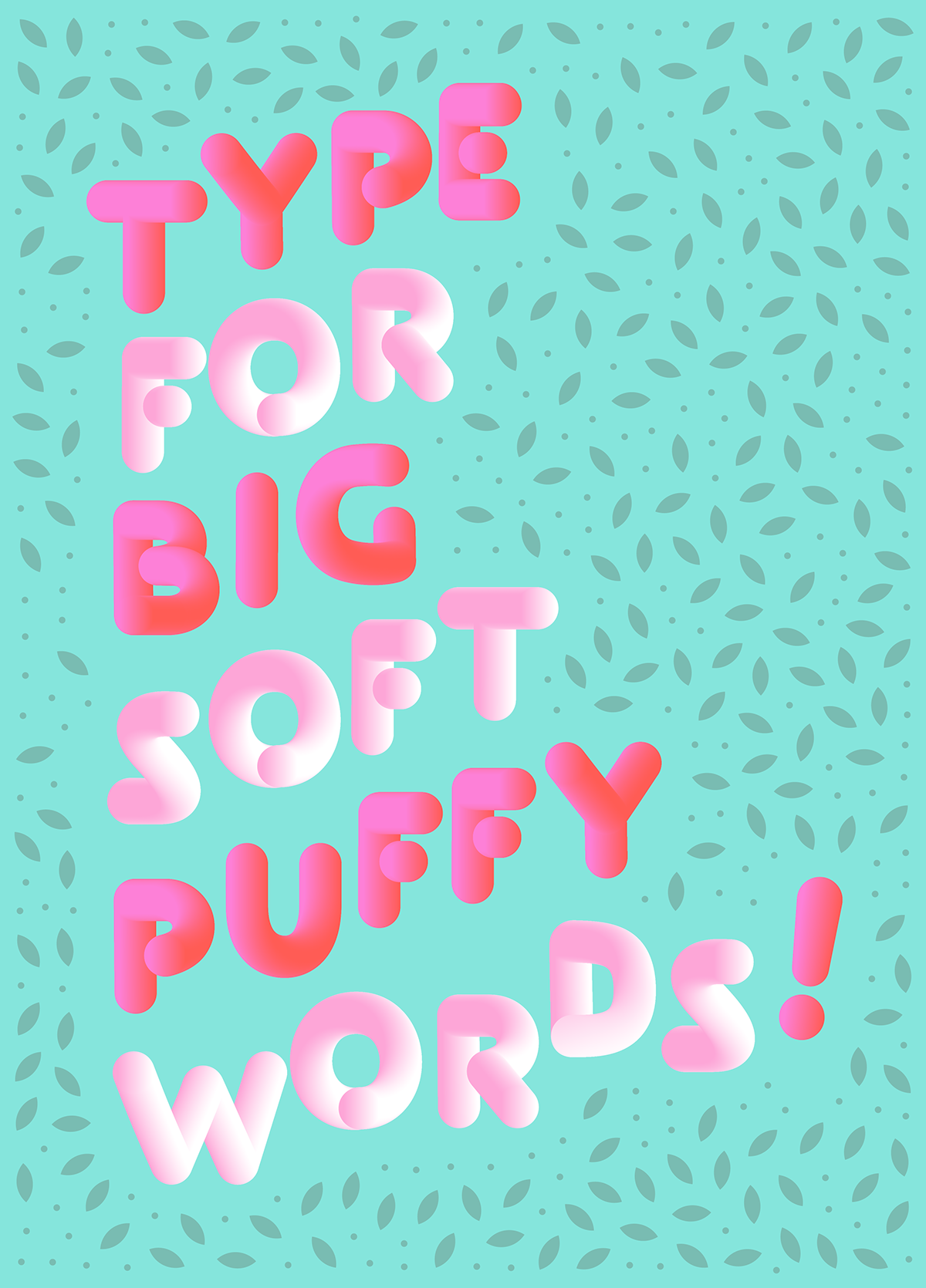 typography   soft rounded font Free font typography illustration puffy font puffy type justin vin marshmallow