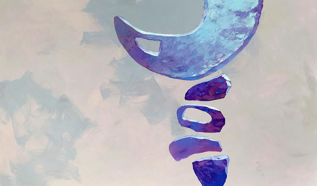 amulet blue calm Fulfillment gold Magic   objects painting   sticks stones Adobe Portfolio