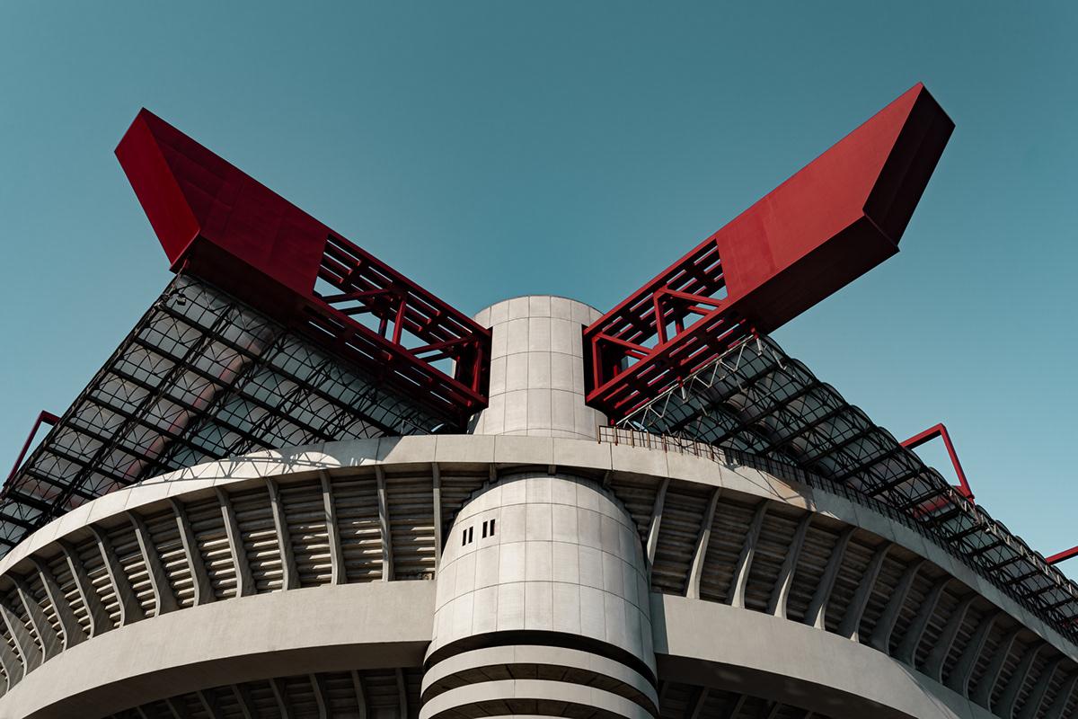 Architecture Photography buildings city lightroom milano Photography  san siro soccer sports stadium