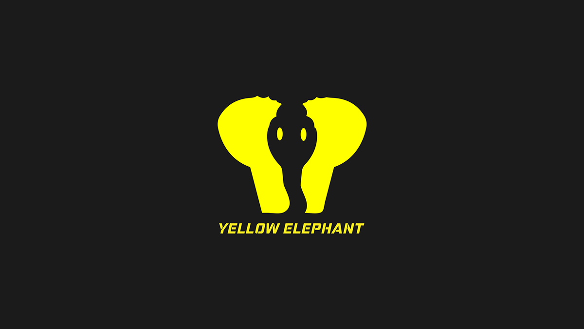 17da7f3deba6bb Yellow Elephant Logo   Brand Identity Design on Wacom Gallery