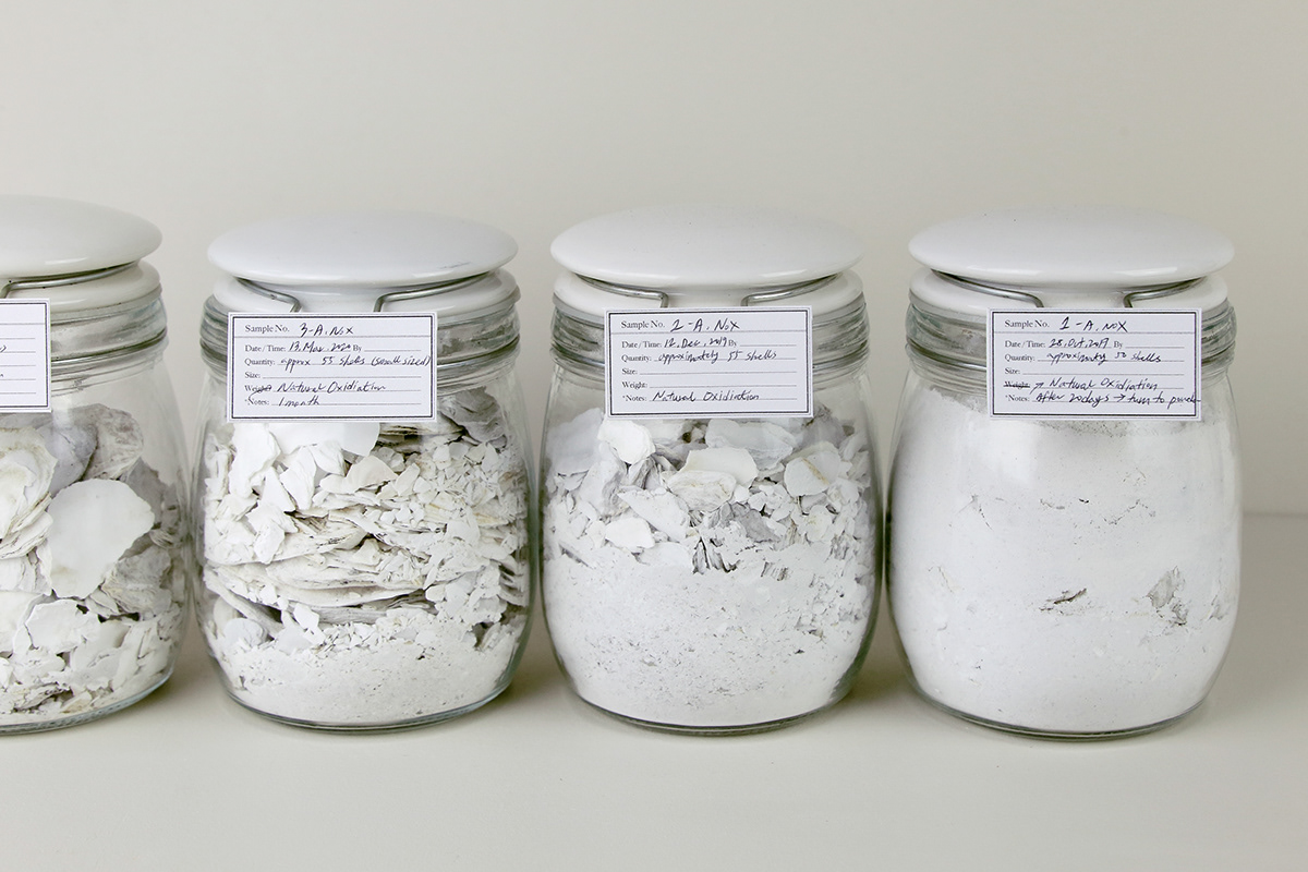 central saint martins material materialfutures oystershells Sustainable waste 굴껍질 지속가능 Sustainability 재료디자인