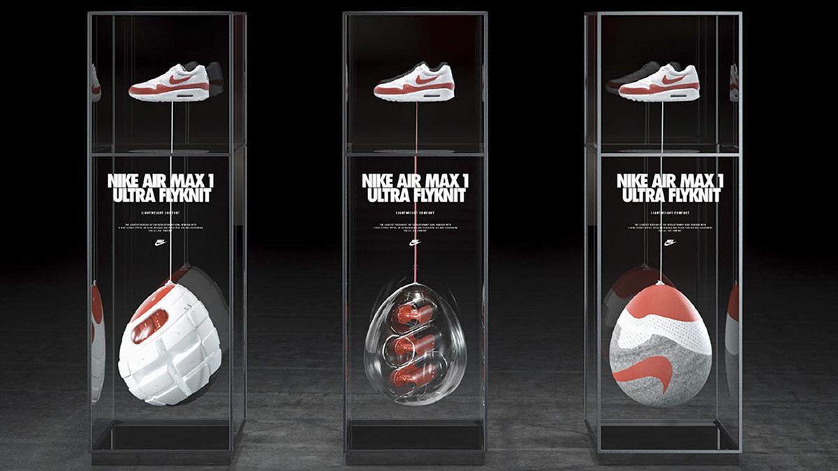 Nike shoe sport Fashion  3D animation  Render design Retail