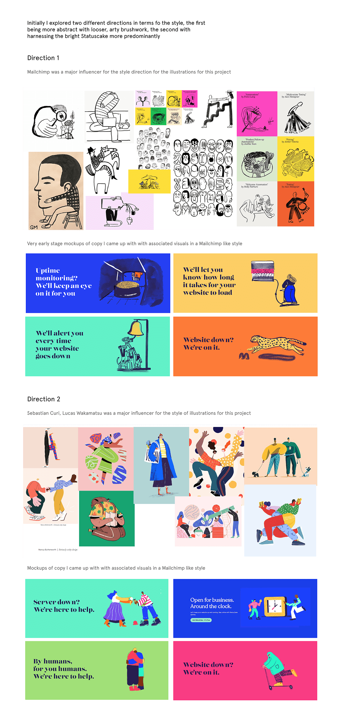 after effects animation  Character design  ILLUSTRATION  mailchimp marketing   Procreate SAAS Website