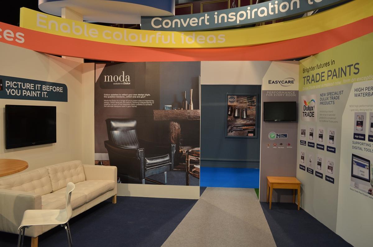 Exhibition Stand Design Dublin : Dulux paints exhibition dublin ireland on behance