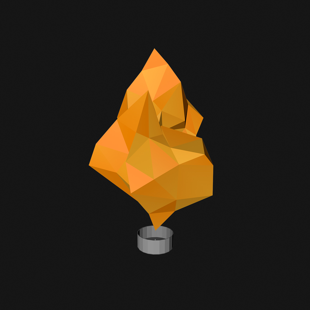 3D Low Poly lantern poster fire lowpoly CGI CG Render