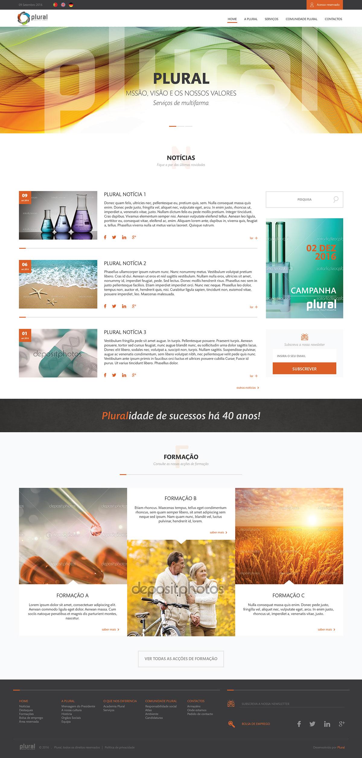 Mockup wireframes Webdesign plural