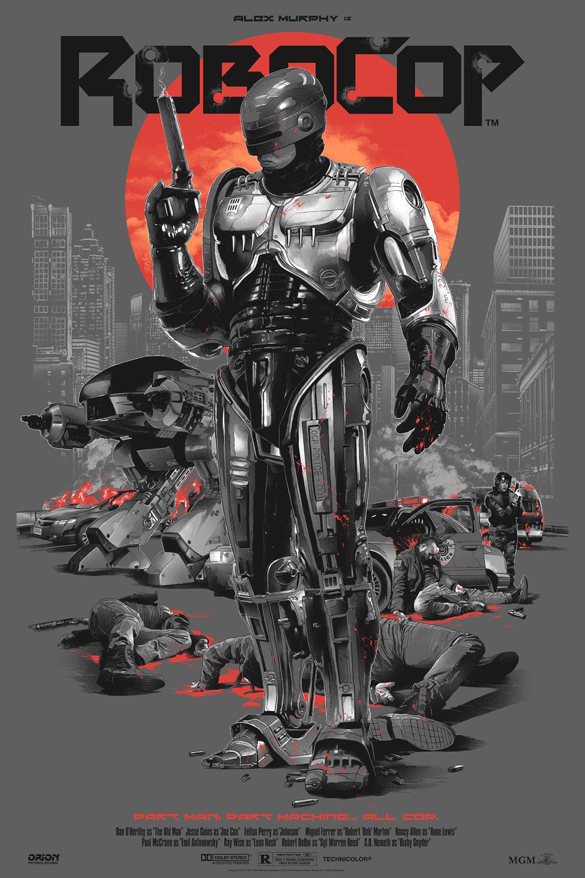 poster Gabz Grzegorz Domaradzki movie screen print Enter the dragon robocop Rocky bruce lee Sylvester Stallone